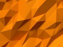 Abstrakt Lowpoly bakgrundsapelsin Geometrisk polygonal illustration för bakgrund 3D Royaltyfri Bild