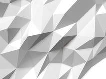 Abstrakt Lowpoly bakgrundsvit Geometrisk polygonal illustration för bakgrund 3D Arkivfoton