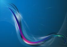 Abstrakt luminiscent linje med krökta vågor. Royaltyfria Bilder