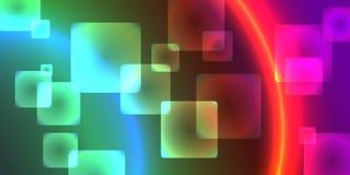 Abstrakt lutning en bakgrund av fyrkanter vektor Royaltyfri Foto