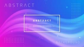 Abstrakt lutningvågbakgrund Dynamiskt bakgrundsfärgflöde Illustration för vektor EPS10 royaltyfri illustrationer