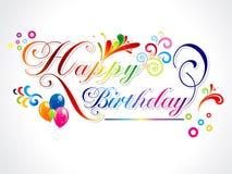 abstrakt lyckligt födelsedagkort royaltyfri illustrationer
