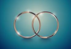 Abstrakt lyxig guld- cirkel För tappningeffekt för vektor ljus bakgrund Rund ram på djup volymturkos Utrymme för ditt bröllop stock illustrationer
