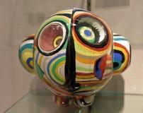 Abstrakt mänsklig framsida för exponeringsglas i avantgardestil Arkivbild