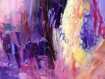 Abstrakt målad bakgrund för akryl hand Royaltyfria Foton