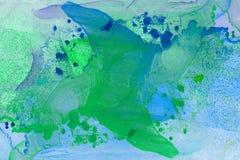 Abstrakt målad bakgrund för marmor hand i modern konststil med den fluid fri-flödande färgpulver- och akrylmålningtekniken Arkivfoto
