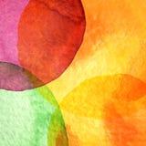 Abstrakt målad bakgrund för vattenfärg cirkel Arkivfoton