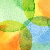 Abstrakt målad bakgrund för vattenfärg cirkel Arkivbild