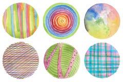 Abstrakt målad bakgrund för vattenfärg cirkel paper textur Är Arkivbilder