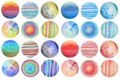 Abstrakt målad bakgrund för vattenfärg cirkel paper textur Är royaltyfri fotografi