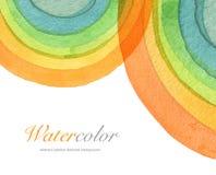 Abstrakt målad bakgrund för vattenfärg cirkel Textu Royaltyfri Foto