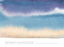 Abstrakt målad bakgrund för vattenfärg fläck paper textur Isolator Arkivfoto