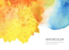 Abstrakt målad bakgrund för vattenfärg fläck paper textur Isolator Royaltyfria Foton