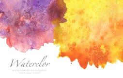 Abstrakt målad bakgrund för vattenfärg fläck paper textur Isolator royaltyfri illustrationer