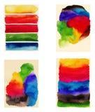 Abstrakt målad bakgrund för vattenfärg hand Royaltyfria Bilder