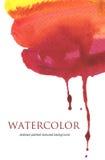 Abstrakt målad bakgrund för vattenfärgflöde ner texturerat Arkivfoto