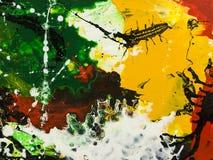 abstrakt målad bakgrundshand Arkivbild