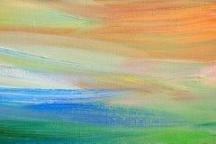 abstrakt målad bakgrundskanfashand Royaltyfria Bilder