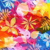 abstrakt målad bakgrundsleaf Royaltyfri Bild