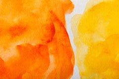 Abstrakt målad texturbakgrund för vattenfärg fläck Arkivbild