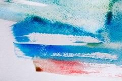 abstrakt målad vattenfärg för bakgrund hand Royaltyfri Foto