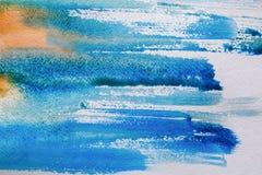 abstrakt målad vattenfärg för bakgrund hand Royaltyfria Bilder