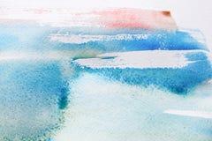 abstrakt målad vattenfärg för bakgrund hand Fotografering för Bildbyråer