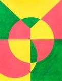 abstrakt målade glädjebokstäver Vektor Illustrationer