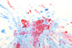 Abstrakt målarfärg på vit Arkivfoton