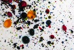 Abstrakt målarfärg plaskar Royaltyfri Fotografi
