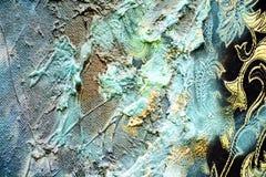 Abstrakt målarfärg som mousserar hypnotisk bakgrund för organisk textil Arkivbild