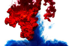 abstrakt målarfärgfärgstänk Arkivfoton