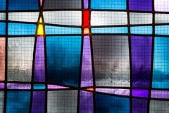 Abstrakt målat glassdetalj Arkivfoton