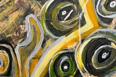 abstrakt målning Arkivbilder
