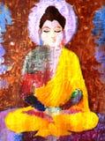 Abstrakt målning av buddha Royaltyfri Fotografi