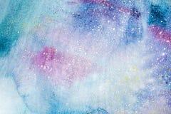 Abstrakt målning för vattenfärg Teckning för vattenfärg Färgrika fläckar texturerar bakgrund royaltyfri illustrationer