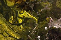 abstrakt målning Grön ödla Fotografering för Bildbyråer
