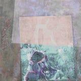 Abstrakt målning med unik textur Arkivfoto