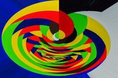 Abstrakt målning som göras på bas av hand-drog akrylgrafitti, textur Vrida roterande flerfärgade linjer Arkivbild