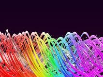 Abstrakt mång- kulör regnbågevårbakgrund Regnbåge vridna vågor illustration 3d Royaltyfria Foton