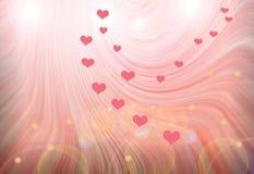 Abstrakt mångfärgad bakgrund med hjärtor Arkivfoto