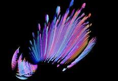 Abstrakt mångfärgad fractalmodell Royaltyfria Bilder