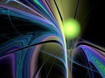 Abstrakt mångfärgad fractalmodell Arkivbilder