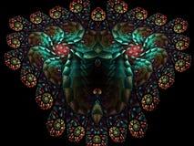 Abstrakt mångfärgad fractalmodell dator frambragda diagram arkivbilder