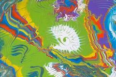 Abstrakt mångfärgad handgjord bakgrund Fluid konst vektor illustrationer