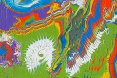 Abstrakt mångfärgad handgjord bakgrund Fluid konst royaltyfri illustrationer