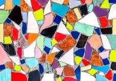 Abstrakt mångfärgad keramisk mosaikbakgrund Royaltyfri Bild