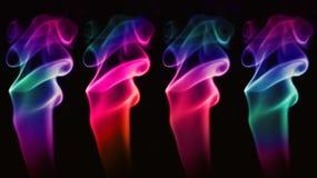 Abstrakt mångfärgad rök Arkivfoton