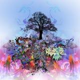 abstrakt mångfärgat träd Royaltyfri Fotografi