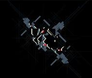 Abstrakt mörk digital datateknikaffärsbakgrund Arkivbild